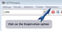 Registration option menu